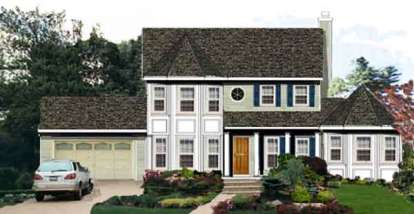 5 Bed, 3 Bath, 2433 Square Foot House Plan - #033-00119