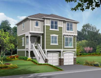 3 Bed, 2 Bath, 1570 Square Foot House Plan #341-00049