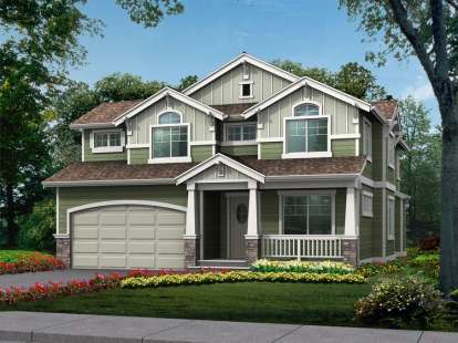 4 Bed, 2 Bath, 2441 Square Foot House Plan - #341-00056