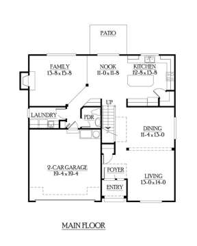 Floorplan 1 for House Plan #341-00067