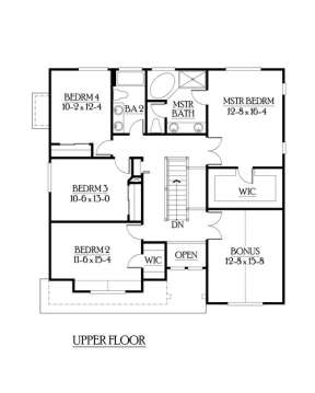 Floorplan 2 for House Plan #341-00067