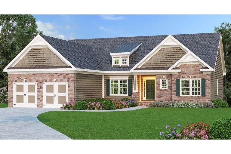 Traditional House Plan #009-00043 Elevation Photo