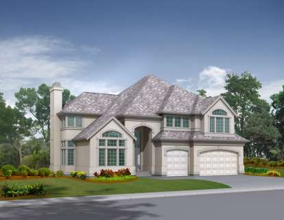 4 Bed, 3 Bath, 3330 Square Foot House Plan - #341-00126