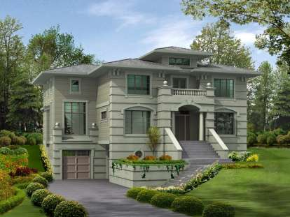 5 Bed, 4 Bath, 4120 Square Foot House Plan - #341-00148