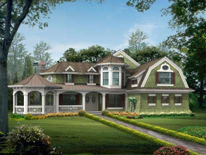 4 Bed, 3 Bath, 3592 Square Foot House Plan #341-00153