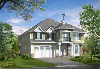 4 Bed, 2 Bath, 3718 Square Foot House Plan - #341-00156