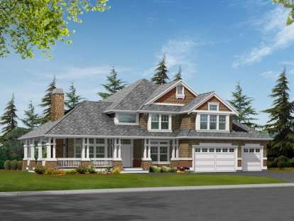 4 Bed, 3 Bath, 3715 Square Foot House Plan - #341-00159