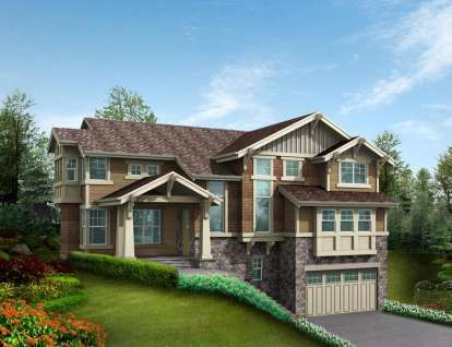 4 Bed, 4 Bath, 3865 Square Foot House Plan - #341-00160