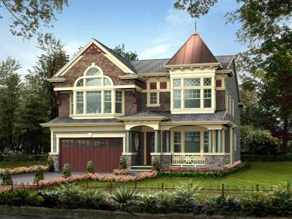 4 Bed, 3 Bath, 4020 Square Foot House Plan - #341-00164