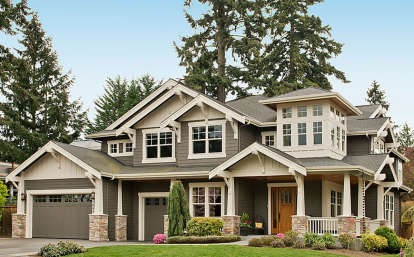 4 Bed, 3 Bath, 4030 Square Foot House Plan - #341-00168