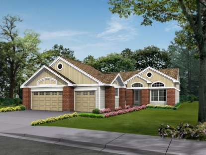 3 Bed, 2 Bath, 2135 Square Foot House Plan - #341-00175
