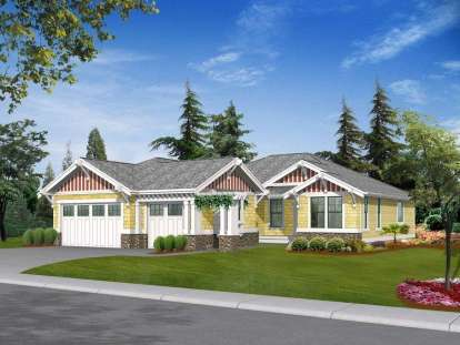 3 Bed, 2 Bath, 2159 Square Foot House Plan - #341-00176