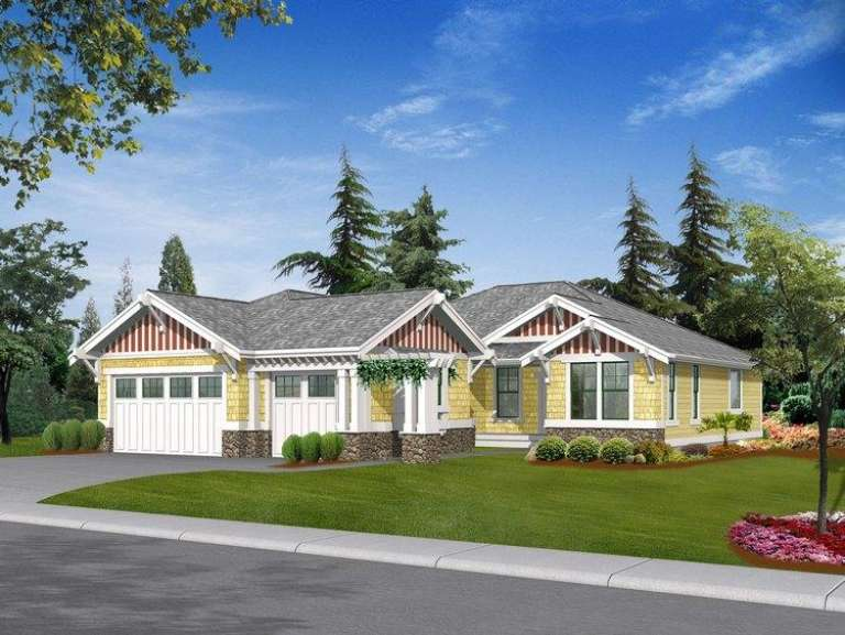 Craftsman House Plan #341-00176 Elevation Photo