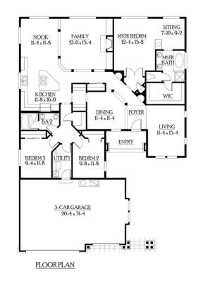 Floorplan 1 for House Plan #341-00176