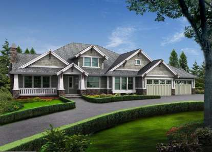 3 Bed, 2 Bath, 4110 Square Foot House Plan - #341-00188