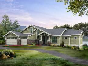 Mountain House Plan #341-00191 Elevation Photo