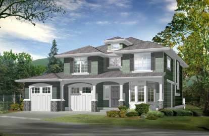3 Bed, 3 Bath, 2616 Square Foot House Plan - #341-00194