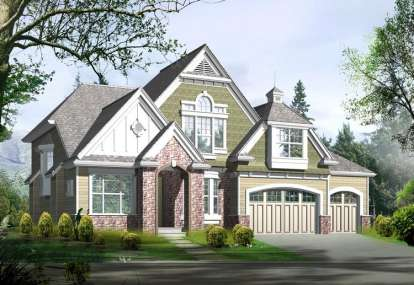 5 Bed, 3 Bath, 3780 Square Foot House Plan - #341-00206