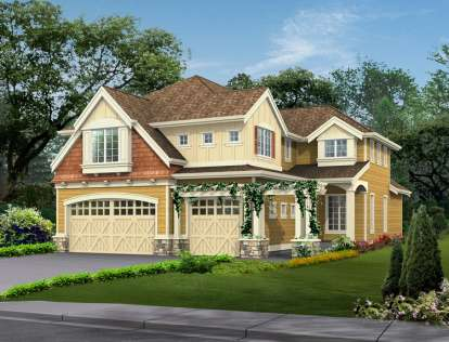 5 Bed, 3 Bath, 4582 Square Foot House Plan - #341-00211
