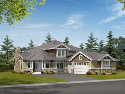 5 Bed, 3 Bath, 3915 Square Foot House Plan - #341-00212