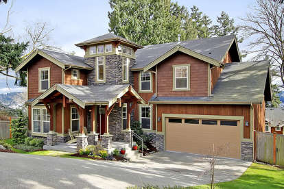 4 Bed, 3 Bath, 3580 Square Foot House Plan - #341-00213
