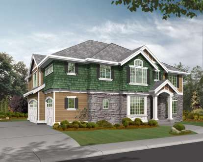 4 Bed, 2 Bath, 3735 Square Foot House Plan - #341-00217