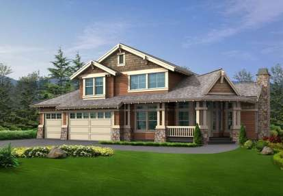 5 Bed, 3 Bath, 4375 Square Foot House Plan - #341-00222