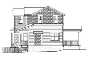 Lake Front House Plan #341-00223 Elevation Photo