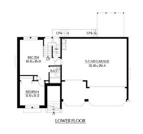 Floorplan 1 for House Plan #341-00223
