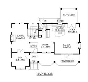Floorplan 2 for House Plan #341-00223