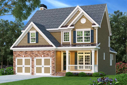 3 Bed, 2 Bath, 2028 Square Foot House Plan - #009-00044