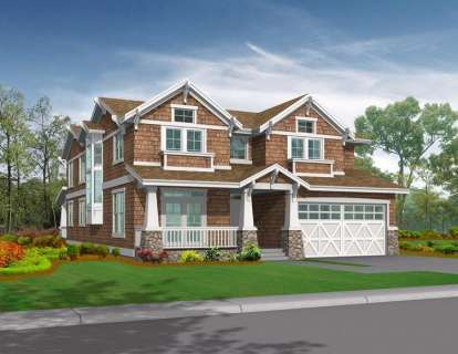 4 Bed, 4 Bath, 4911 Square Foot House Plan - #341-00233