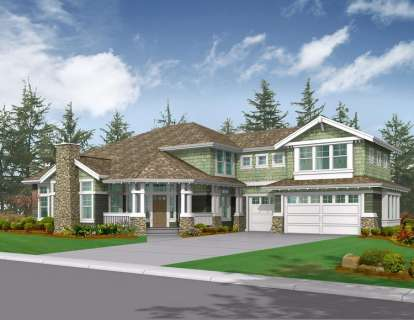 6 Bed, 3 Bath, 4634 Square Foot House Plan - #341-00235