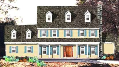 4 Bed, 2 Bath, 2717 Square Foot House Plan - #033-00124