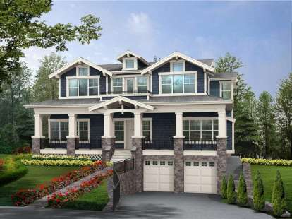 5 Bed, 5 Bath, 3737 Square Foot House Plan #341-00237