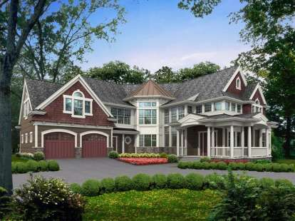 4 Bed, 4 Bath, 5910 Square Foot House Plan #341-00250