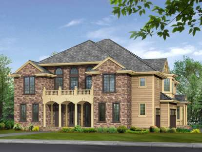 4 Bed, 5 Bath, 4370 Square Foot House Plan - #341-00251