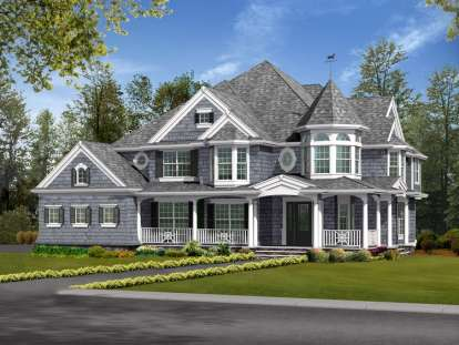 5 Bed, 4 Bath, 4460 Square Foot House Plan - #341-00257