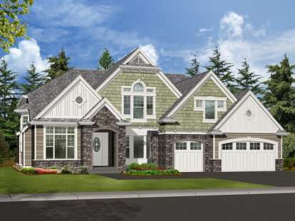 4 Bed, 4 Bath, 4590 Square Foot House Plan - #341-00262