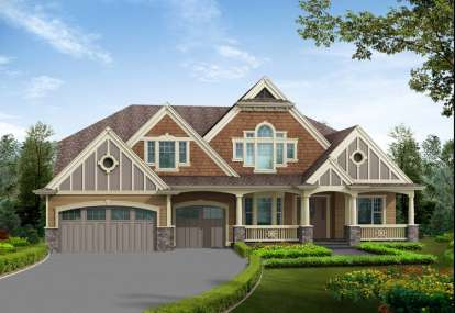 5 Bed, 4 Bath, 4890 Square Foot House Plan - #341-00264