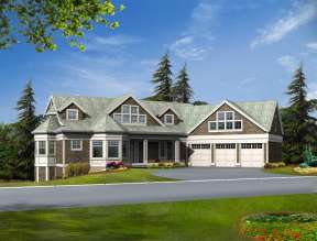 Luxury House Plan #341-00286 Elevation Photo