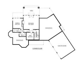 Floorplan 1 for House Plan #341-00286