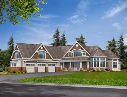 4 Bed, 4 Bath, 5180 Square Foot House Plan - #341-00291