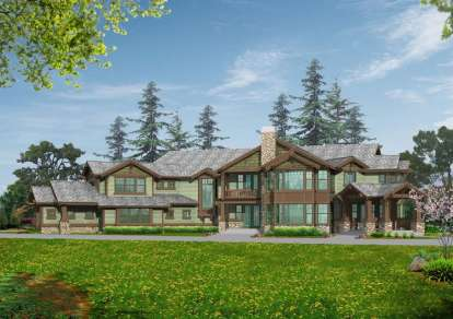 4 Bed, 5 Bath, 5940 Square Foot House Plan - #341-00293