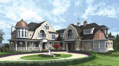 4 Bed, 5 Bath, 9250 Square Foot House Plan - #341-00297