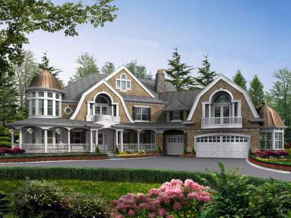 4 Bed, 5 Bath, 7985 Square Foot House Plan - #341-00299