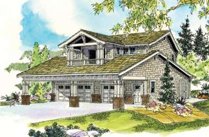 1 Bed, 2 Bath, 1999 Square Foot House Plan - #035-00447