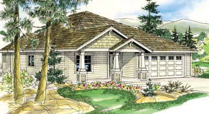 3 Bed, 2 Bath, 1719 Square Foot House Plan - #035-00448