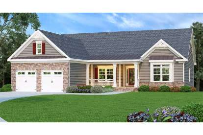 4 Bed, 2 Bath, 2221 Square Foot House Plan - #009-00045