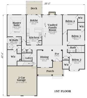 Main Floor for House Plan #009-00045